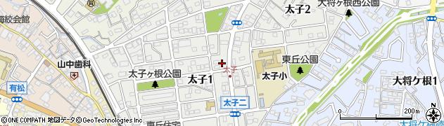 愛知県名古屋市緑区太子周辺の地図