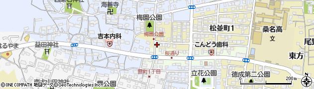 三重県桑名市松並町2丁目27周辺の地図