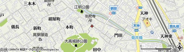 愛知県名古屋市緑区大高町(江明)周辺の地図