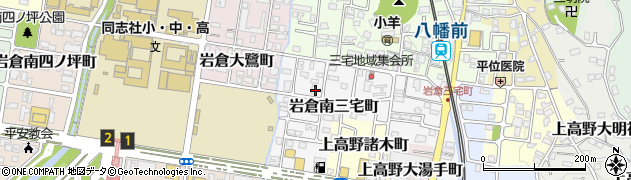 京都府京都市左京区岩倉南三宅町周辺の地図