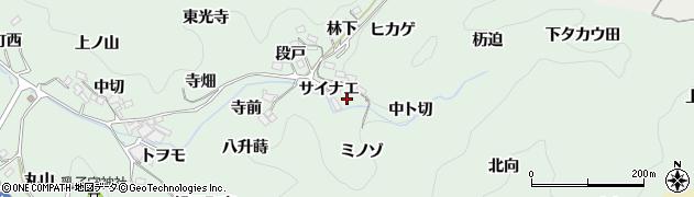 愛知県豊田市鍋田町(サイナエ)周辺の地図