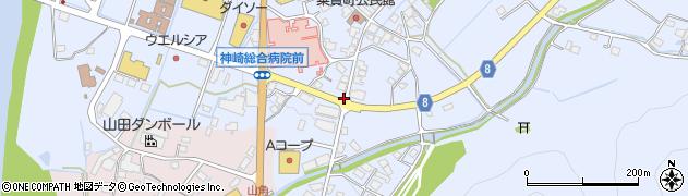 農協前周辺の地図
