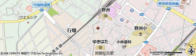 滋賀県野洲市行畑周辺の地図