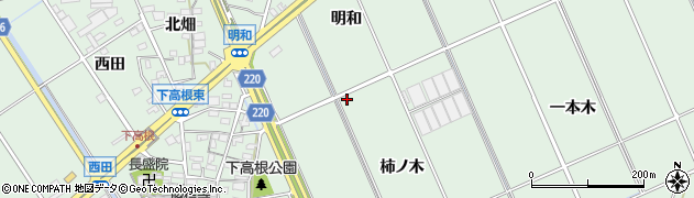 愛知県豊明市沓掛町(柿ノ木)周辺の地図