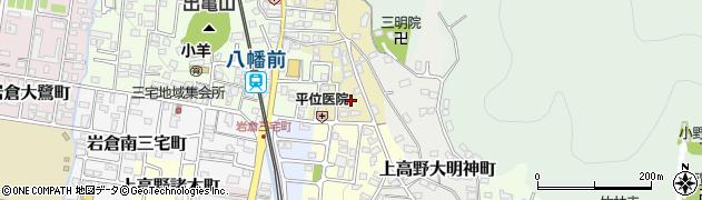 京都府京都市左京区上高野北田町周辺の地図
