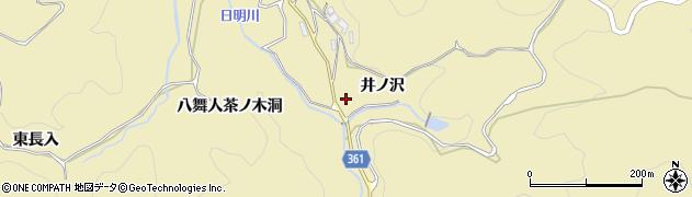 愛知県豊田市坂上町(井ノ沢)周辺の地図