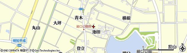 愛知県みよし市明知町(池田)周辺の地図