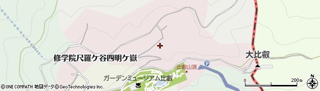 京都府京都市左京区修学院尺羅ケ谷四明ケ嶽周辺の地図
