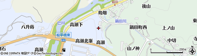 愛知県豊田市鵜ケ瀬町(高瀬)周辺の地図