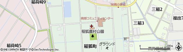 愛知県弥富市稲狐町周辺の地図