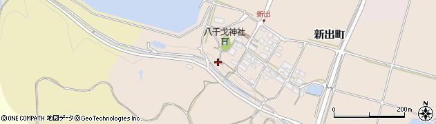 滋賀県東近江市新出町周辺の地図