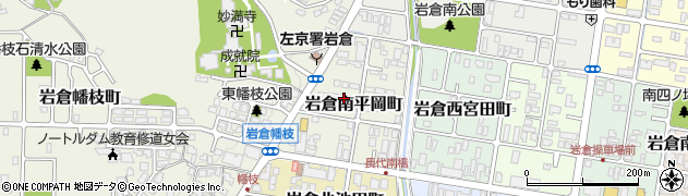 京都府京都市左京区岩倉南平岡町周辺の地図