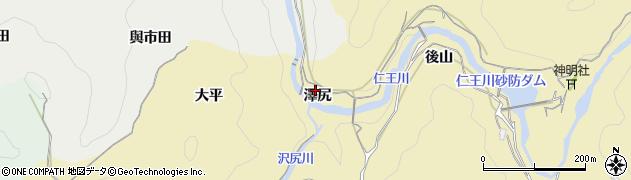愛知県豊田市豊松町(澤尻)周辺の地図