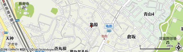 愛知県名古屋市緑区大高町(亀原)周辺の地図