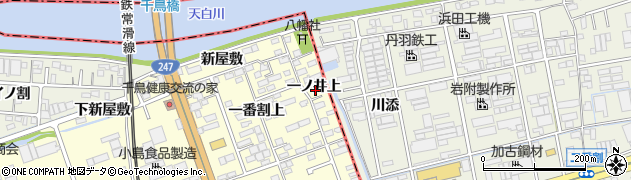愛知県東海市名和町(一ノ井上)周辺の地図