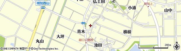 愛知県みよし市明知町(青木)周辺の地図