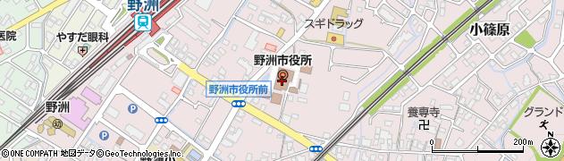 滋賀県野洲市周辺の地図