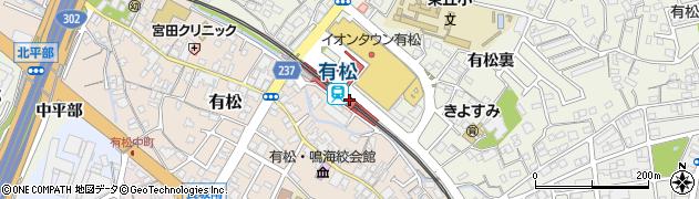 愛知県名古屋市緑区周辺の地図