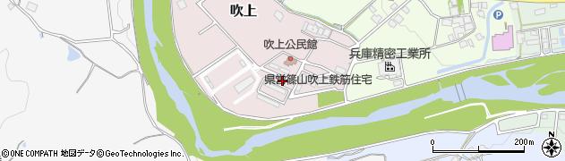 兵庫県丹波篠山市吹上周辺の地図
