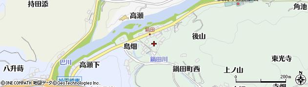 愛知県豊田市鍋田町(タカセ)周辺の地図