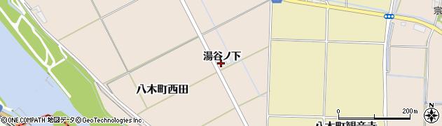 京都府南丹市八木町西田(湯谷ノ下)周辺の地図