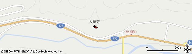 大隠寺周辺の地図