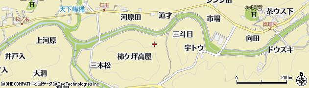 愛知県豊田市坂上町周辺の地図