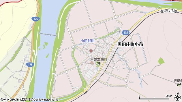 〒679-0301 兵庫県西脇市黒田庄町小苗の地図