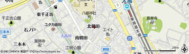 愛知県名古屋市緑区大高町(北鶴田)周辺の地図