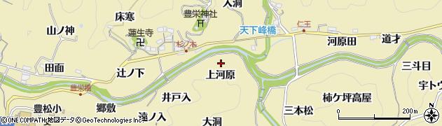 愛知県豊田市坂上町(上河原)周辺の地図