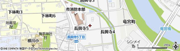 愛知県豊田市長興寺周辺の地図