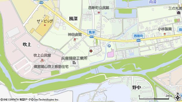 〒669-2343 兵庫県丹波篠山市風深の地図
