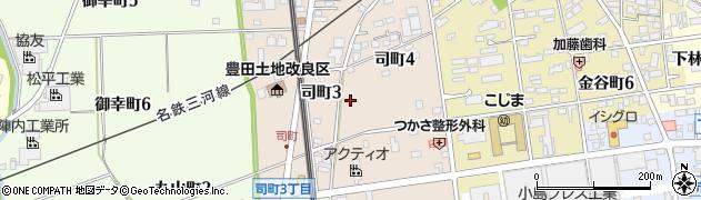 愛知県豊田市司町周辺の地図