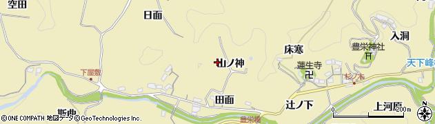 愛知県豊田市坂上町(山ノ神)周辺の地図