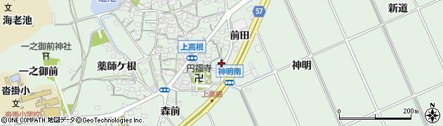 愛知県豊明市沓掛町(前田)周辺の地図