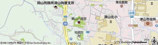 鶴山八幡宮周辺の地図