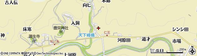 愛知県豊田市坂上町(宮ノ脇)周辺の地図