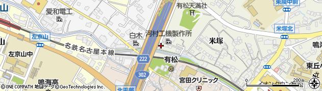 愛知県名古屋市緑区鳴海町(鎌研)周辺の地図