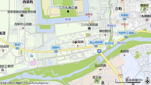 〒669-2333 兵庫県丹波篠山市南新町の地図