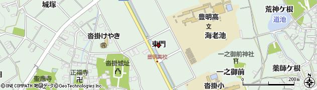 愛知県豊明市沓掛町(東門)周辺の地図