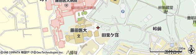 愛知県豊明市沓掛町(田楽ケ窪)周辺の地図