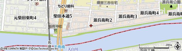 愛知県名古屋市南区源兵衛町周辺の地図