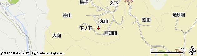 愛知県豊田市坂上町(丸山)周辺の地図