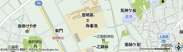 愛知県豊明市沓掛町(海老池)周辺の地図