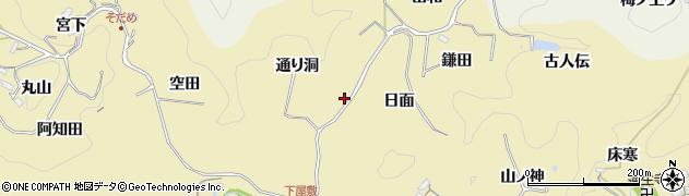 愛知県豊田市坂上町(通り洞)周辺の地図