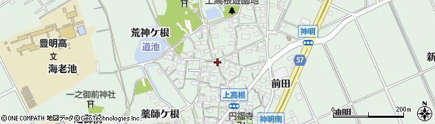 愛知県豊明市沓掛町(上高根)周辺の地図