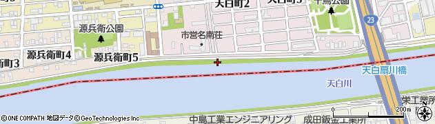 愛知県名古屋市南区鳴尾町(流作)周辺の地図