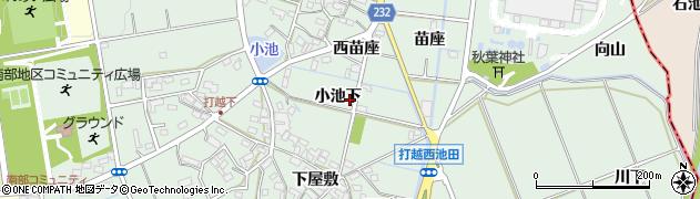 愛知県みよし市打越町(小池下)周辺の地図