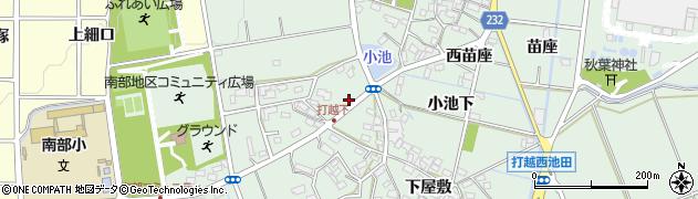 愛知県みよし市打越町(下鏡塚)周辺の地図
