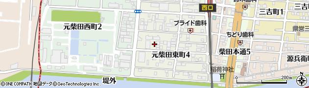 愛知県名古屋市南区元柴田東町4丁目14周辺の地図